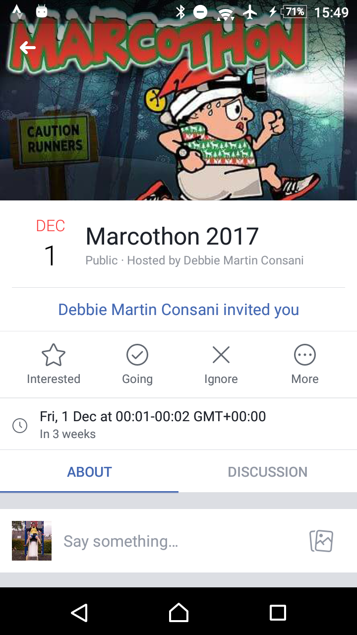Marcothon invite