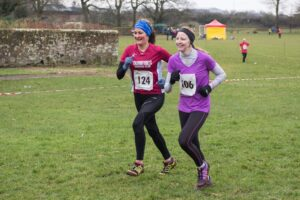 Two runners complete the race at Annan